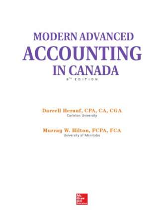 Modern advanced accounting in Canada (8th edition)