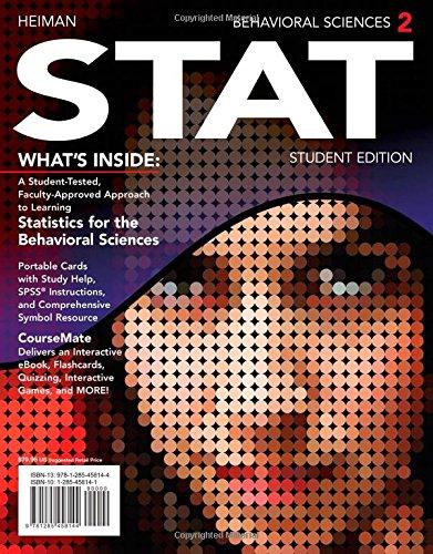 Behavioral Sciences STAT (2nd Edition)